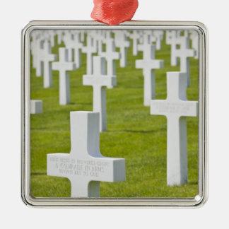 Luxembourg Hamm. Us-militärkyrkogård Silverfärgad Fyrkantigt Julgransprydnad