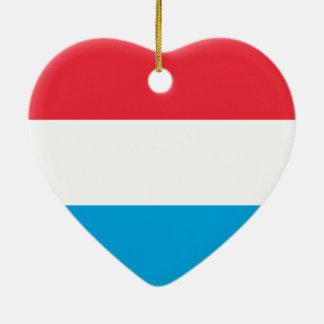 Luxembourg - Lëtzebuerg - Luxemburg Hjärtformad Julgransprydnad I Keramik