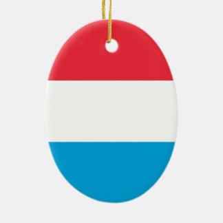 Luxembourg - Lëtzebuerg - Luxemburg Ovalformad Julgransprydnad I Keramik