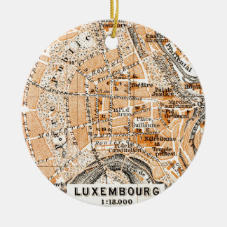 Luxembourg Rund Julgransprydnad I Keramik