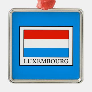 Luxembourg Silverfärgad Fyrkantigt Julgransprydnad