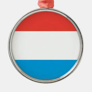 Luxembourg slättflagga julgransprydnad metall