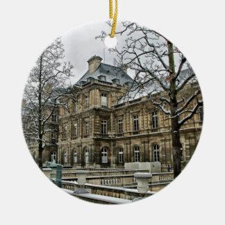 Luxembourg slott - placera av den franska senaten julgransprydnad keramik