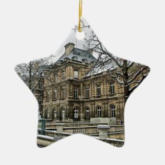 Luxembourg slott - placera av den franska senaten stjärnformad julgransprydnad i keramik
