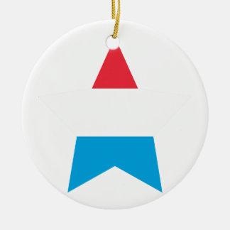 Luxembourg stjärna rund julgransprydnad i keramik
