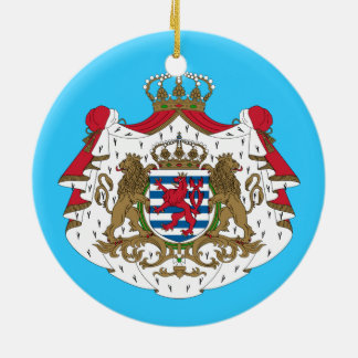 Luxembourg* vapensköld julgransprydnad keramik