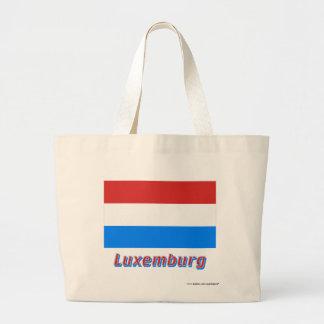 Luxemburg Flagge mit Namen Kasse