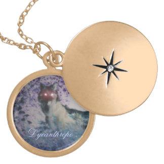 lycanthropelocket guldpläterat halsband