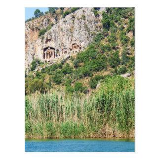 Lycian stengravar, Dalyan, Turkiet Vykort