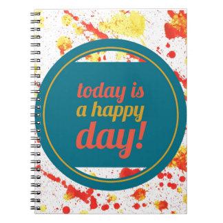 lycka anteckningsbok med spiral