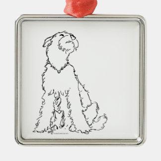 Lycka för walesisk eller Lakeland Terrier för Julgransprydnad Metall