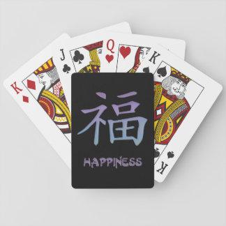 Lycka som leker symbol för Kanji för kort~ Spelkort