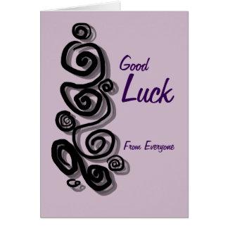 Lycka till från alla tillfogar ditt meddelande hälsningskort