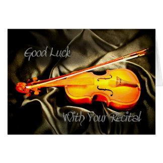 Lycka till med din högläsning, ett fiolkort hälsningskort