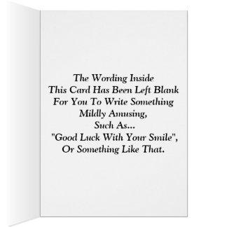 """""""Lycka till med ditt leende """", Hälsningskort"""