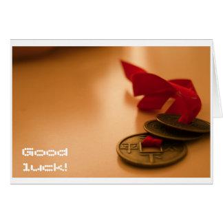 Lycka tillkort! hälsningskort