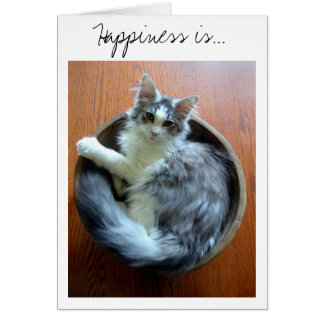 Lyckan är en bunkefullt av kattungekortet hälsningskort