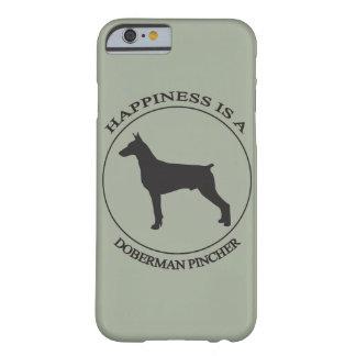 Lyckan är en Doberman Barely There iPhone 6 Skal