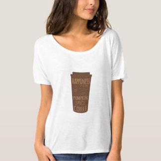 Lyckan är en kopp av T-tröja för pumpakryddakaffe T-shirt