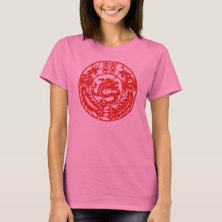 LyckaPhoenix för drake dubbel utslagsplats T-shirt