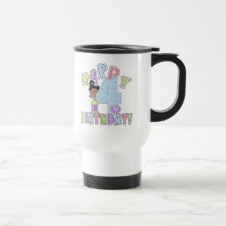 Lycklig 4e födelsedagen för flickor, afrikansk ame kaffe koppar