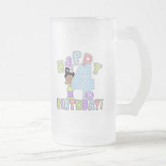 Lycklig 4e födelsedagen för flickor, afrikansk ame kaffe mugg