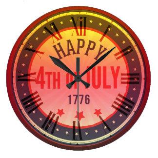 Lycklig 4th av den Juli 1776 rundaväggen tar tid Stor Klocka