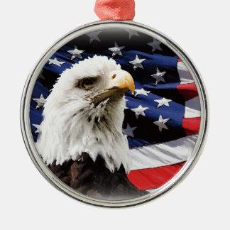 Lycklig 4th av den Juli independence day 2014 Julgransprydnad Metall