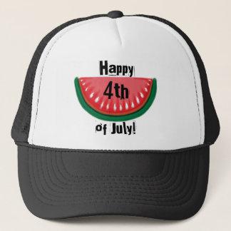 Lycklig 4th av hatten för Juli vattenmelonsvart Keps