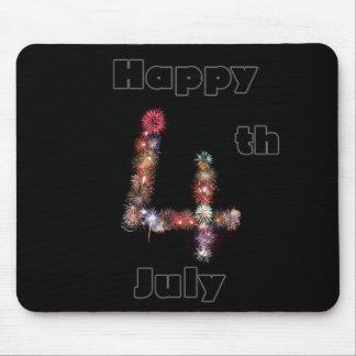 Lycklig 4th av Juli fyrverkeridesigner Musmatta