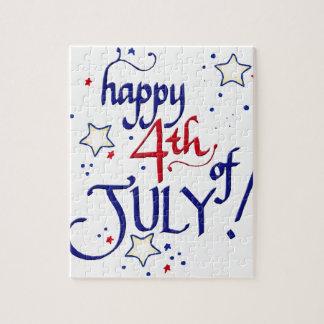 Lycklig 4th Juli Pussel