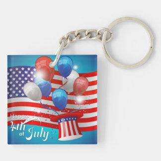 Lycklig 4th patriotiska Juli