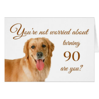 Lycklig 90:e födelsedag, bekymrat labb hälsningskort