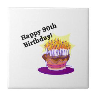 Lycklig 90:e födelsedag! kakelplatta