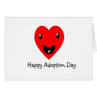 Lycklig adoptiondag 7,8 hälsningskort
