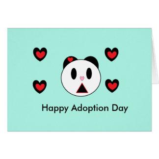 Lycklig adoptiondag hälsningskort