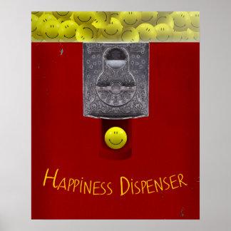 Lycklig affisch för ansikteGumball maskin