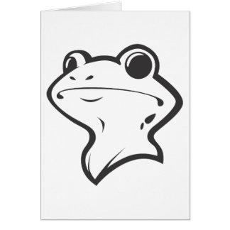 Lycklig amerikanBullfrog i svartvitt Hälsningskort
