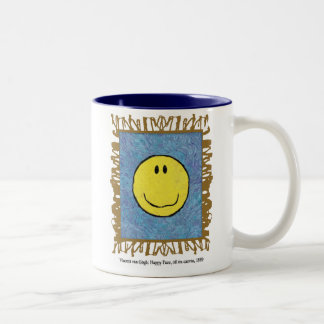 lycklig ansiktemugg för post impressionism Två-Tonad mugg