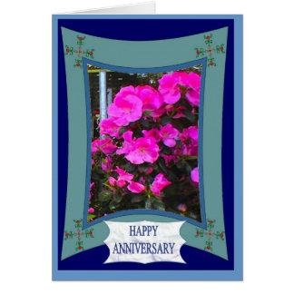 Lycklig årsdag, djupt - rosor hälsningskort