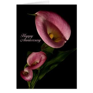 Lycklig årsdag med liljakortet för rosa Calla Hälsningskort