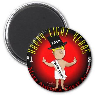 Lycklig åtta nya år magnet