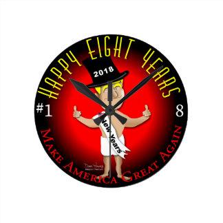 Lycklig åtta nya år rund klocka