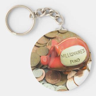 Lycklig besparing! rund nyckelring