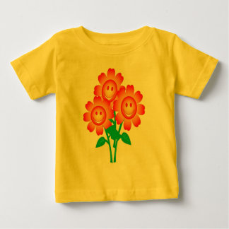 Lycklig blommar skjortan t-shirts