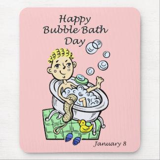 Lycklig bubbelbaddag Januari 8 Musmattor