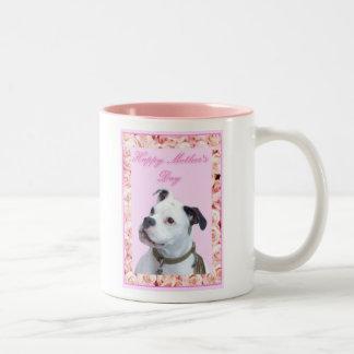Lycklig Bulldogge för mors dagOlde engelska mugg
