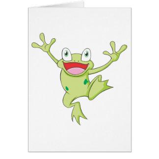Lycklig Bullfrog Hälsningskort