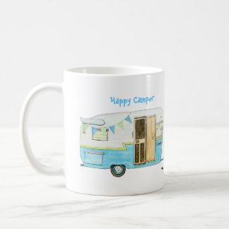 Lycklig campare kaffemugg