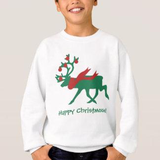 Lycklig Christmoose barns tröja för jul